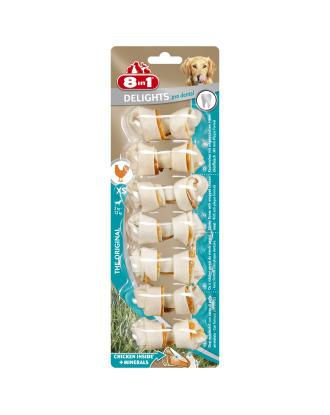 8in1 Dental Delights Bones XS -  przysmaki dla psa, wspierające zdrowie zębów