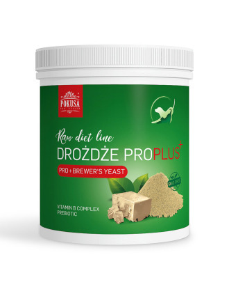 Pokusa Raw Diet Brewer`s Yeast Pro Plus drożdże browarnicze wzbogacone prebiotykami,  wzmacniają odporność  i układ trawienny psów i kotów
