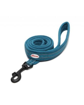 Record Atlante Lead Turquoise - wysokiej jakości, odblaskowa smycz dla psa o długości 110cm, turkusowa