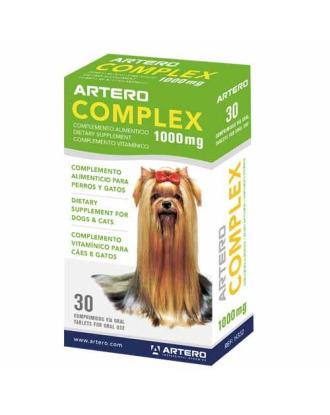 Artero Complex 30 tabletek - suplement diety stymulujący porost włosa i podszerstka, dla psów ze słabym i uszkodzonym włosem