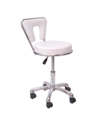 Krzesło groomerskie model Exclusive, białe