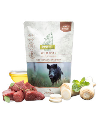 Isegrim Roots Adult Wild Boar - mokra, bezzbożowa karma dla dorosłych psów z dzikiem, 410g