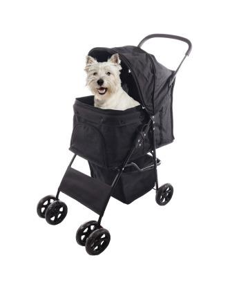 Flamingo Buggy Anda Black - wygodny i lekki wózek spacerowy dla psa