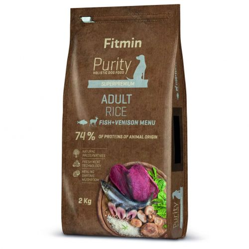 Fitmin Purity Rice Adult Fish & Venison 2kg