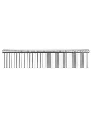 Show Dog Design Lifting Comb - solidny grzebień z grawerowanym uchwytem, mieszany rozstaw ząbków 50/50