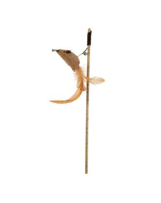 Recofun Emoji Stick - wędka dla kota z myszką i piórkami