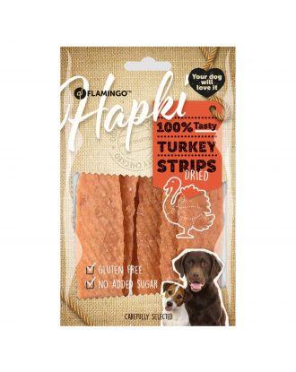 Flamingo Hapki Turkey Stripes 85g - przysmaki dla psa, suszone paski indyka