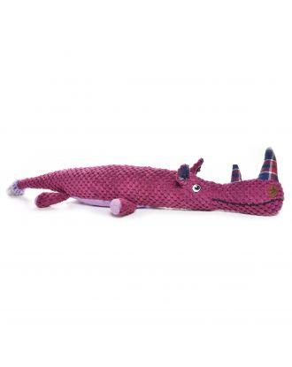 Record Pink Rhino 51cm - pluszowy nosorożec w kolorze różowym z piszczałką