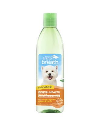 Tropiclean Water Additve Plus Skin & Coat 473ml - naturalny dodatek do wody, do higieny jamy ustnej z kwasami Omega3 i Omega6