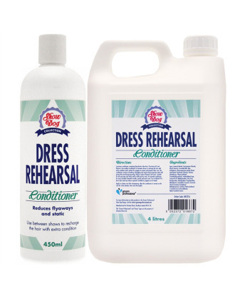 Show Dog Dress Rehearsal Conditioner - delikatna, wygładzająca odżywka do częstego stosowania u każdego typu szaty, koncentrat 1:18
