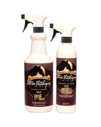 Best Shot Equine Ultra Vitalizing Mist - skuteczna odżywka do walki z kołtunami, skraca czas suszenia i działa antystatycznie, dla koni