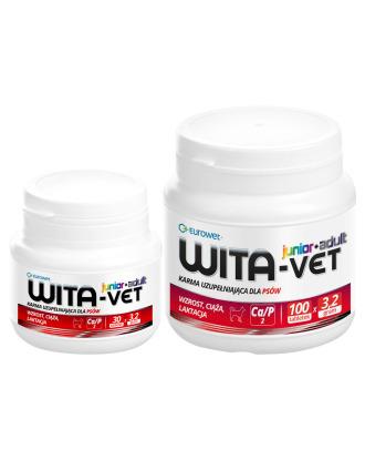 Eurowet Wita-Vet Ca/P=2 Junior+Adult 3.2g - preparat minerałowo-witaminowy dla szczeniąt i suk ciężarnych oraz w okresie laktacji