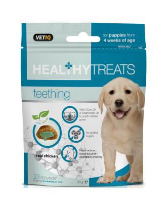 VetIQ Healthy Treats Teething 50g - przysmaki dla szczeniaka, na ząbkowanie