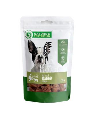 Nature's Protection Snacks Natural rabbit chips 75g - chipsy z królika i kurczaka
