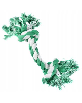 Kość bawełniana Record Mint, kolorowy sznur do czyszczenia zębów psa o zapachu mięty