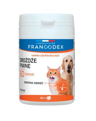 Francodex Drożdze piwne 60tbl - preparat wspomagający na skórę i sierść