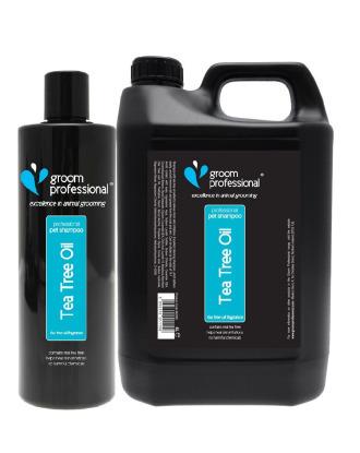 Groom Professional Tea Tree Oil Shampoo - szampon leczniczy, łagodzący podrażnienia, koncentrat 1:14