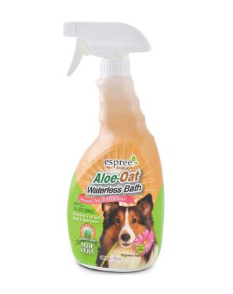 Espree Natural Aloe-Oat Waterless Bath 710ml - szampon na sucho z lawendą i rumiankiem do usuwania brudu i brzydkich zapachów
