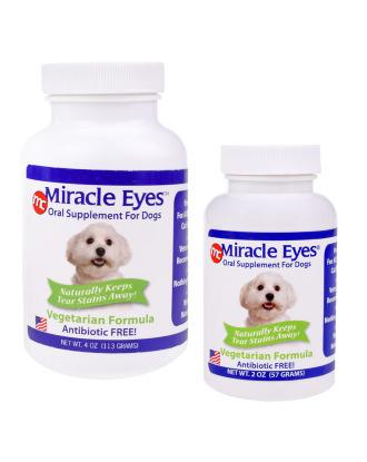 Miracle Eyes Tear Stain Reducer Vegetarian Formula - naturalny suplement diety likwidujący przebarwienia na sierści i zacieki pod oczami (bez antybiotyku), wegetariański