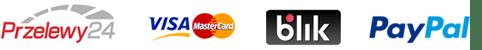Przelewy24, Visa, Blik, mBank, PayPal